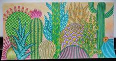 """""""Kaktusy #tropicalwonderland #milliemarotta #coloring #coloringbook"""""""