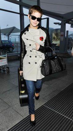 *jealous* EMMA WATSON WEARS FIRST BESPOKE BURBERRY TRENCH | Grazia Fashion