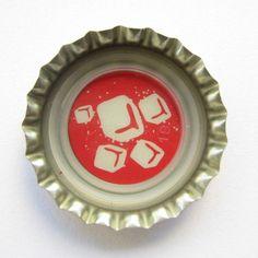 Coca-Cola Brasil promotional ice cubes bottle cap.