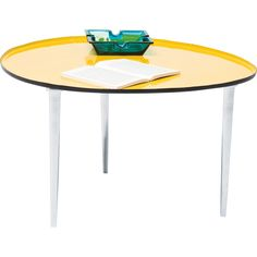 Table Basse Design Egg jaune 57x62 cm Kare Design