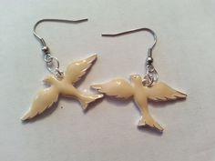 Swallow Earrings Bird Earrings Beige Swallow Bird Earrings