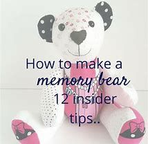 A beautiful momento of baby's first clothes. Here's how to make a memory bear by an experienced maker Memory Crafts, Baby Crafts, Diy Teddy Bear, Teddy Bears, Teddy Bear From Baby Sleeper, Teddy Bear Sewing Pattern, Teddy Bear Patterns, Memory Pillows, Memory Quilts