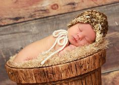 Naturally Cute Bonnet bulky crochet newborn photo prop