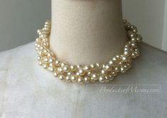 bridal party fashion braided manmade pearl by productsofme on Etsy, $10.00