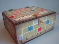 Vintage Scrabble game board box