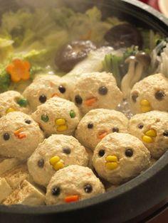 Meatball chicken dumpling nabe // OMG SO CUTE!!