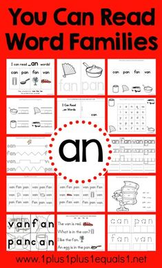 an Word Family Printables in Action ~ Homeschool Kidnergarten