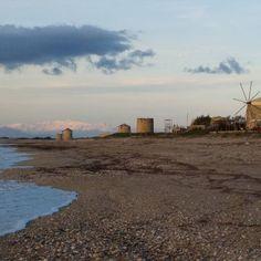 Old windmills in #Lefkada