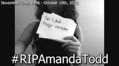 #RIPAmandaTodd [Bullying + Suicide], via YouTube.
