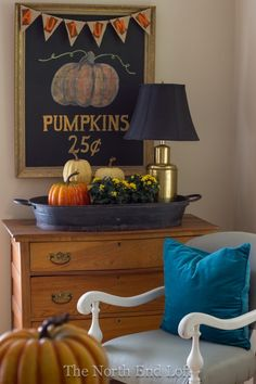 Fall Living Room by North End Loft