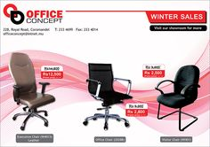 Office Concept Ltd - Special Winter Promo. Tel: 233 4699