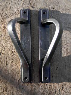 Forged Steel Interior Door Handles with by Strauss Design Studio, $150.00 https://www.facebook.com/StraussDesignStudio https://www.etsy.com/listing/116957220/forged-steel-interior-door-handles-with