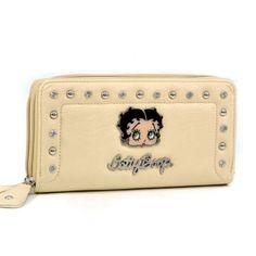 Betty Boop ® Rhinestone Studded Zip Around Wallet