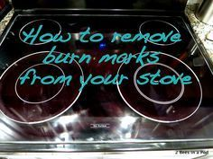 How to remove burn marks from your stove using baking soda and lemon juice