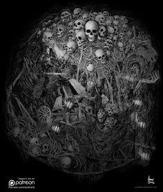 Gravelord Nito by andrerb.deviantart.com on @DeviantArt