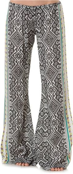 Chanel's current lust! The mixing prints and colors on these beach pants are killer!