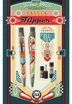 Retro 51 Popper Flipper Tornado Rollerball Pen