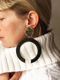 Diy Earrings, Statement Earrings, Earrings Handmade, African Jewelry, Tribal Jewelry, Tribal African, Amber Bracelet, Polymer Clay Necklace, Bijoux Diy