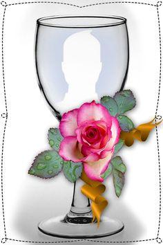 Adicione sua foto em uma linda taça Birthday Photo Frame, Birthday Photos, Photo Clipart, Picture Frame Decor, Framed Wallpaper, Christmas Jars, Beautiful Landscapes, Happy Valentines Day, Beautiful Flowers