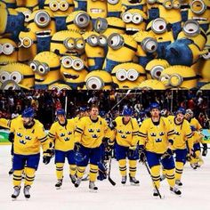 Are these the guys that Canada is going to play for the gold medal? Go minions! I mean Go Sweden!