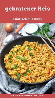 Pan de Asia con pollo - Una receta rápida y fácil de arroz frito con pollo y verduras. Healthy Chicken Recipes, Easy Healthy Recipes, Quick Easy Meals, Easy Dinner Recipes, Asian Recipes, Vegetarian Recipes, Ethnic Recipes, Healthy Desserts, Slow Cooker Recipes