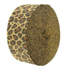 New Leopard Cheetah Print Crepe Paper Party Streamer Leopard Print Party, Animal Print Party, Cheetah Print, Animal Prints, Crepe Streamers, Party Streamers, Sweet 16 Parties, Grad Parties, Birthday Parties