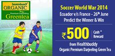 #Predict the winner between #Ecuador and #France on 26th June in #SoccerWorldWar 2014  http://www.foreseegame.com/user/GamePlay.aspx?GameID=ldN5cC6pEwMZ%2bk10yETkaA%3d%3d