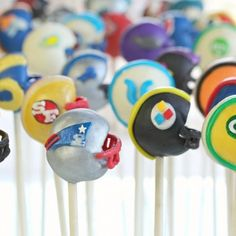 Football Helmet Cake Pops