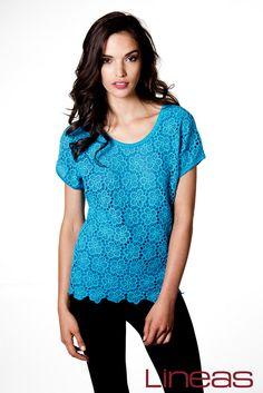 Blusa, Modelo 19372. Precio $150 MXN #Lineas #outfit #moda #tendencias #2014 #ropa #prendas #estilo #primavera #outfit #blusa