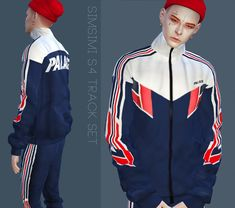 SIMSIMI S4 TRACK SET Mesh+Texture by simsimi Model : ASTER + EVAN + ALLAN + REX + JOEL + BAN GAI + RYAN + JI SOO + VITO + YU JIN +SIMSIMI S4 TRACK JACKET - 13 SWATCH +SIMSIMI S4 TRACK PANTS - 13 SWATCH +SIMSIMI S4 TRACK PANTS short - 13 SWATCH +Do not re-upload +Recolors are allowed but do not include the mesh & mark my credit. +If you want to re-edit and share to everyone, please ask permissio..
