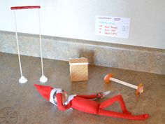 CrossFit Elf on the Shelf / and he still looks like he skips leg...and arm day. Loser.