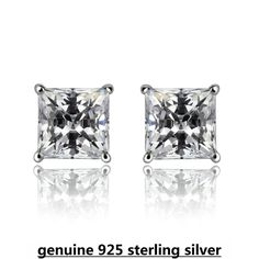 kastm brand wholesale pure 925 sterling silver crystal stud earrings fine kse012