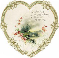 SamiCat - Valentine's Day - Vintage Valentine Images Vintage, Art Vintage, Vintage Heart, Vintage Ephemera, Vintage Cards, Vintage Postcards, Vintage Prints, Vintage Pictures, Vintage Paper