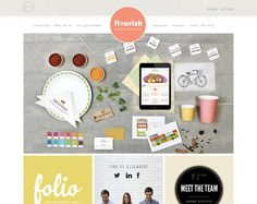 Flourish Brand Stylists   19 Beautiful and Colorful Websites for your Inspiration