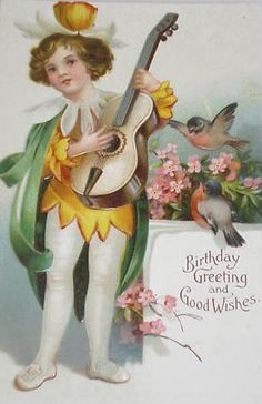 Library, Vintage Greeting Cards...birthday