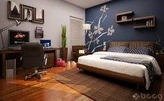 cuartos de varones con muebles color cherry - Google Search