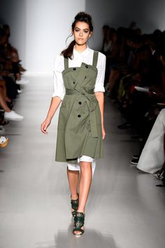 Pin for Later: The 5 Most Important Things You Need to Know About Day 7 of NYFW Day 1: Marissa Webb Spring 2015 The master of layering struck again with button-downs under cool khaki gear, including army green jumpers.