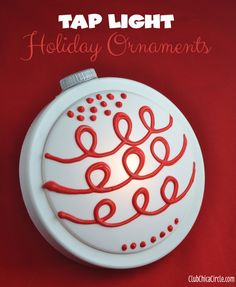 Tap Light Holiday Wall Ornaments Craft Idea | Tween Craft Ideas for Mom and Daughter