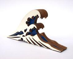La grande vague de Kanagawa butoir de porte en bois par CliveRoddy