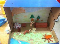 shoebox diorama ideas for kids 2nd Grade Activities, Educational Activities, Classroom Activities, Learning Activities, Activities For Kids, Classroom Ideas, Shoe Box Diorama, Diorama Ideas, Kids Art Class