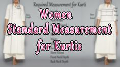 Women Standard Measurement Chart | Measurement Guide for Beginners | #SewingTutorialForBeginners - YouTube