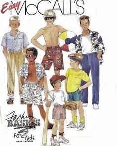 McCall's 4132 Boys Fashion Wardrobe Sewing Pattern Size 4 New Uncut OOP #McCalls