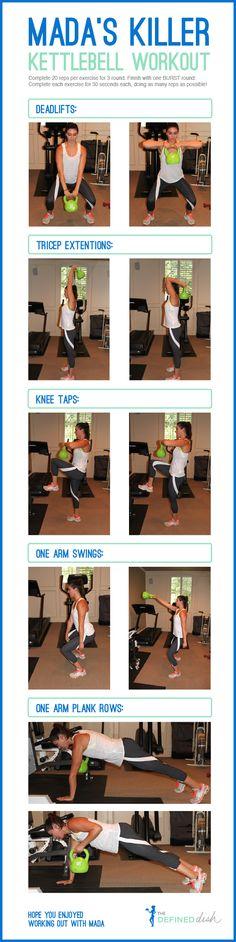 Killer Kettlebell Workout    Arm Workout / Ab Workout / Quick Workout