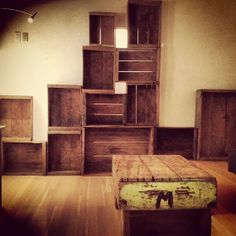 Amazing Furniture Made Out Of Vintage Crates By DavisCratesandCo, $60.00 Crate  Furniture, Furniture Making