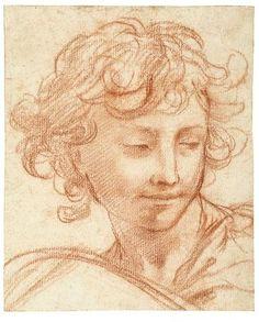 16 Pietro da Cortona, Study of the Head of a Youth, Gaetano Gandolfi, 1786 Portrait Sketches, Portrait Art, Drawing Sketches, Art Drawings, Academic Drawing, Drawing Studies, Art And Illustration, Illustrations, Caravaggio
