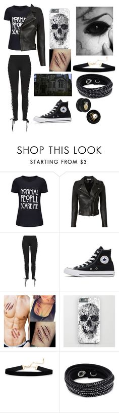 """""""Control-Halsey"""" by mercy123 ❤ liked on Polyvore featuring WithChic, IRO, Puma, Converse and Swarovski"""