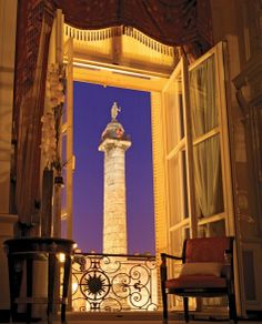 View of the Place Vendôme from the Imperial Suite at the Ritz Paris
