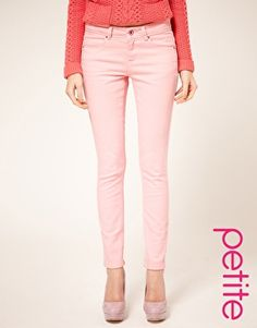 Browse online for the newest ASOS PETITE Pale Pink Skinny Jeans styles. Shop easier with ASOS' multiple payments and return options (Ts&Cs apply). Asos Petite, Petite Tops, Latest Fashion Clothes, Love Fashion, Stylish Petite Clothing, Petite Clothes, Light Pink Jeans, Pink Skinny Jeans, Pink Pants
