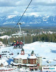 View from the ski lift at Kimberley Ski Resort #Kimberley