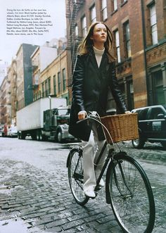 The Downtown Scene  US Vogue   Photographer: Steven Meisel  Fashion Editor: Camilla Nickerson  Model: Audrey Marnay